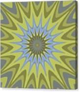 Psycho Hypno Floral Pattern Canvas Print