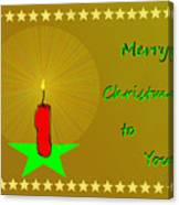 2611 Merry Christmas To You 2018 Canvas Print
