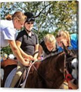 Manito Equestrian Center Benefit Horse Show Canvas Print