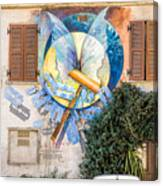 Mural Painting In Saludecio Canvas Print