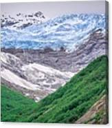 Glacier And Mountains Landscapes In Wild And Beautiful Alaska Canvas Print