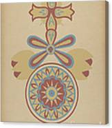 "Santa Barbara Mission Doorway Design From The Portfolio ""decorative Art Of Spanish California"" Canvas Print"