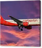 Air Berlin Airbus A320-214 Canvas Print