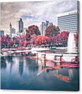Charlotte North Carolina Cityscape During Autumn Season Canvas Print