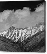 2d07509-bw High Peaks In Lost River Range Canvas Print