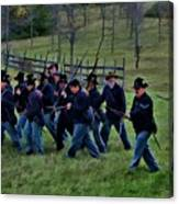 2nd Wi Infantry Black Hats Canvas Print