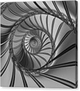 2x1 Abstract 434 Bw Canvas Print