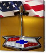 1954 Chevrolet Hood Emblem Canvas Print