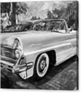 1959 Lincoln Continental Town Car Mk Iv Painted Bw   Canvas Print