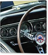 1966 Ford Mustang Cobra Steering Wheel Canvas Print