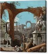 A Capriccio Of Roman Ruins Canvas Print