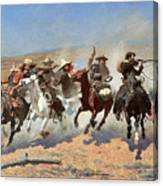 Frederic Remington A Dash for the Timber Giclee Canvas Print  Poster