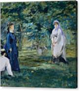 A Game Of Croquet Canvas Print