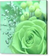 A Gift Of Preservrd Flower And Clay Flower Arrangement, White An Canvas Print