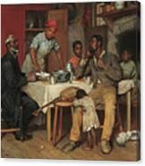 A Pastoral Visit Canvas Print