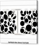 Abstract Monochrome Canvas Print