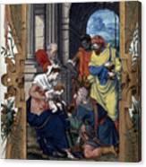 Adoration Of Magi Canvas Print