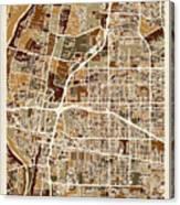 Albuquerque New Mexico City Street Map Canvas Print