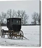Amish Buggy Near Shipshe Canvas Print
