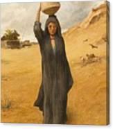 An Arab Girl Canvas Print