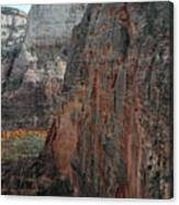 Angels Landing In Zion Canvas Print