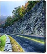 Autumn Colors In The Blue Ridge Mountains Canvas Print