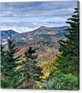 Autumn Foliage On Blue Ridge Parkway Near Maggie Valley North Ca Canvas Print