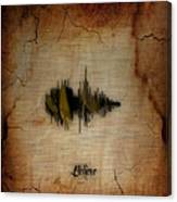 Believe Recorded Soundwave Collection Canvas Print