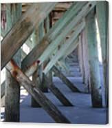 Beneath The Docks Canvas Print