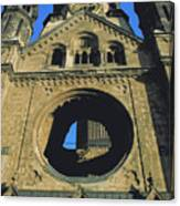 Bombed Out Church In Berlin Canvas Print