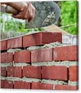 Bricklaying Canvas Print