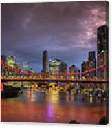 Brisbane City Skyline After Dark Canvas Print