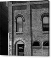Burlington North Carolina - Arches And Alley Bw Canvas Print