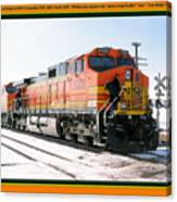 Burlington Northern Santa Fe Bnsf - Railimages@aol.com Canvas Print