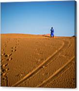 Tracks In The Sahara Canvas Print