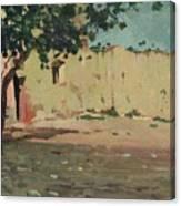 Case Sulla Marina Di Laigueglia Canvas Print