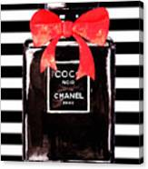 Chanel Noir Perfume Canvas Print