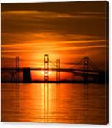 Chesapeake Bay Bridge Sunset Canvas Print