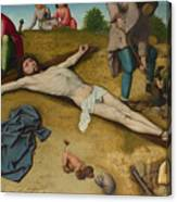 Christ Nailed To The Cross Canvas Print