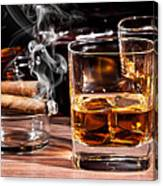 Cigar And Alcohol Collection Canvas Print
