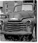 Old And Forgotten - Bw Canvas Print