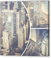 Collage Of Chicago  Canvas Print