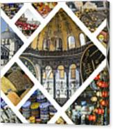 Collage Of Istanbul  Canvas Print