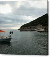 Cunski Beach And Coastline, Losinj Island, Croatia Canvas Print