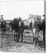 3 Desert Prospectors C. 1900 Canvas Print