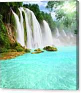 Detian Waterfall Canvas Print