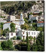 Dhermi Traditional Village View In Southern Albania Canvas Print