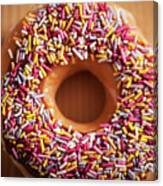 Donut And Sprinkles Canvas Print