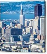 Downtown San Francisco City Street Scenes And Surroundings Canvas Print