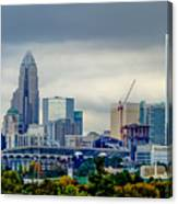 Dramatic Sky And Clouds Over Charlotte North Carolina Canvas Print